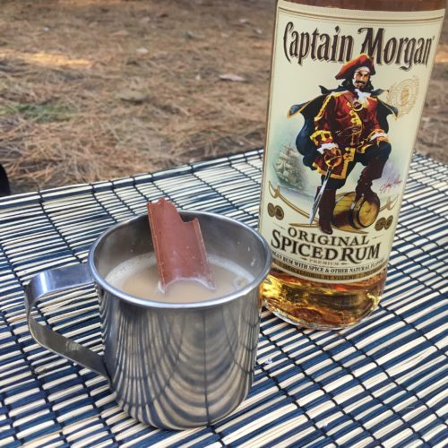 キャプテンモルガンを入れたラム酒の香り漂うホットチャイ
