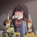 ゆるキャン△7話。酔っぱらいのお姉さんが2本も抱え込むほどおいしいキャプテンモルガンというお酒。