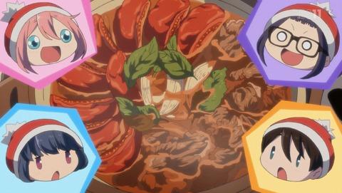ゆるキャン△11話。トマトすき焼き。