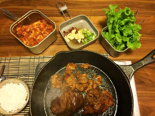 ユニフレーム山クッカー角型3を使って焼き肉