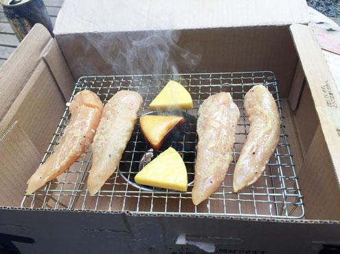 チーズだけ燻製されている。