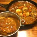 【レシピ】フライパンひとつ、手が汚れない!煮込みハンバーグ
