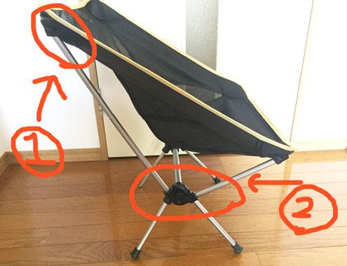 安い軽量椅子で壊れやすい部分2つ