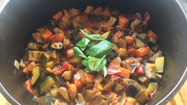 夏野菜で作った栄養満点のラタトゥイユ。