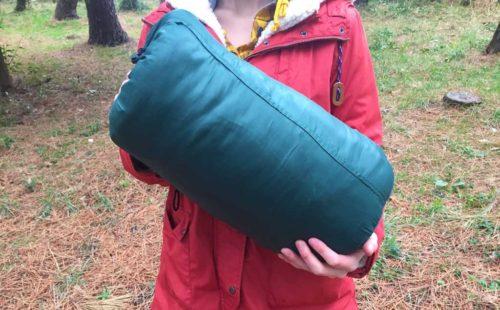 キャプテンスタッグ寝袋のサイズ