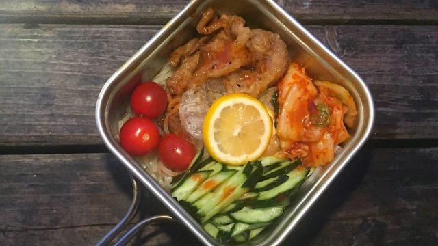 コッヘル一つで作れる冷麺