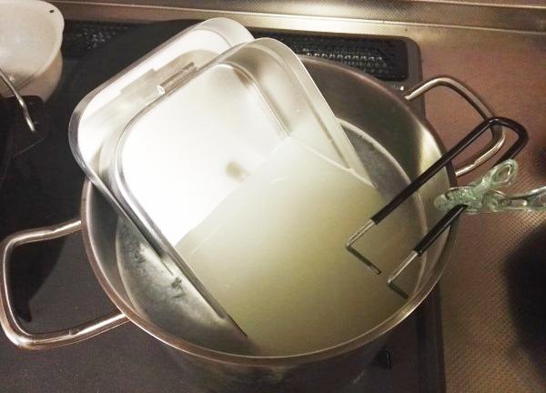 米のとぎ汁でシーズニング