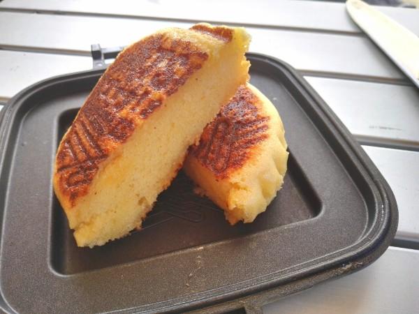 ホットサンドメーカー 蒸しパン