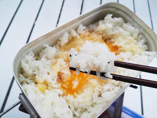 メスティンで炊いた米