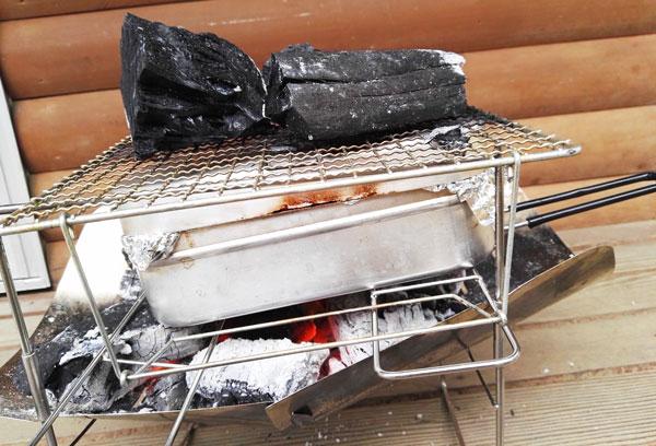 ピコグリルとメスティンを使ってオーブン調理