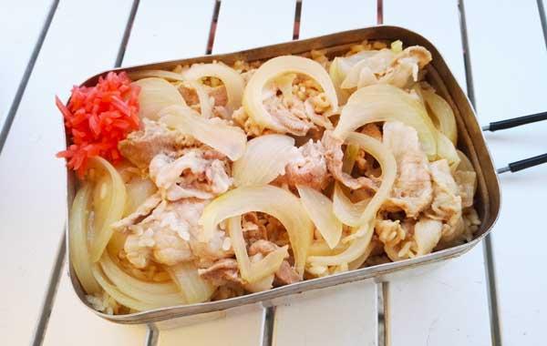 メスティンで作る豚丼