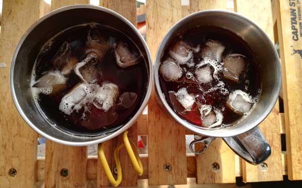 保冷マグカップの実験
