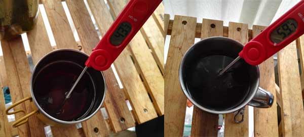 保冷マグカップの実験(15分後)