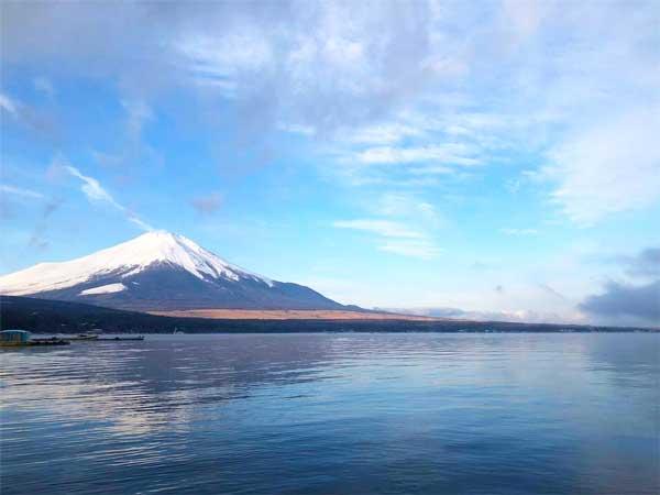 山中湖フォレストコテージから見る富士山