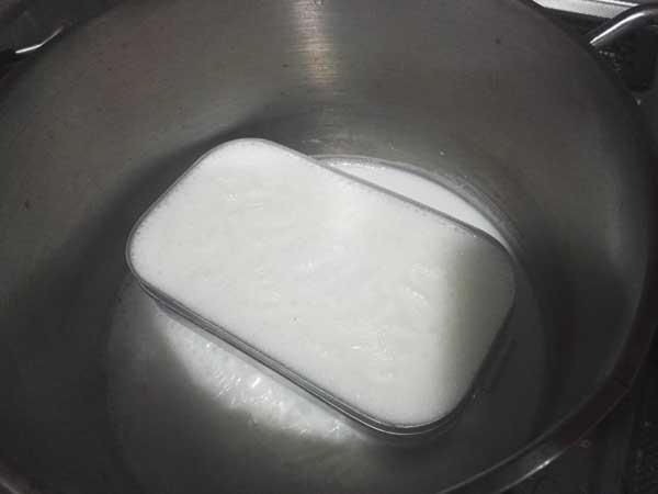 牛乳でメスティンをシーズニング