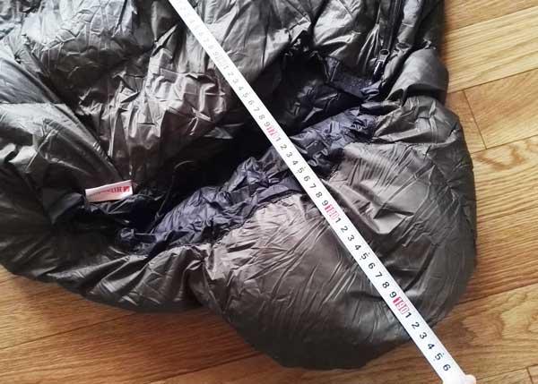 ハイランダーの新作ダウン寝袋の縦幅は190cm