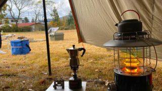 冬キャンプの朝