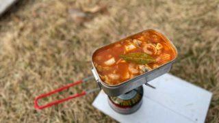 【レシピ】簡単スープペスカトーレ。秋冬キャンプはスープパスタであったまろ。
