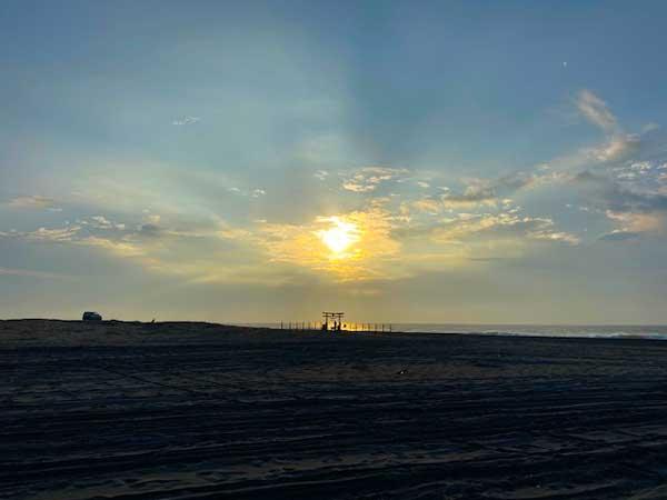 福田海岸から見る初日の出