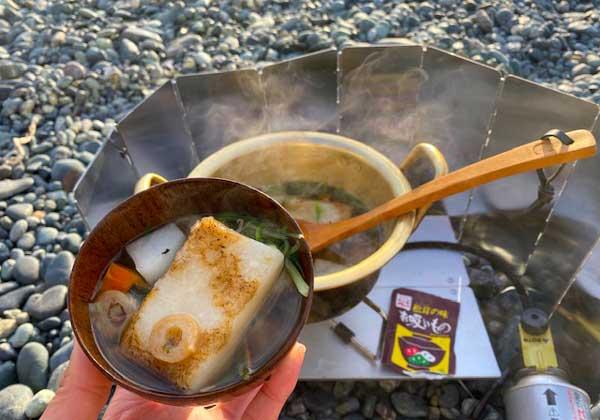 海辺でお雑煮