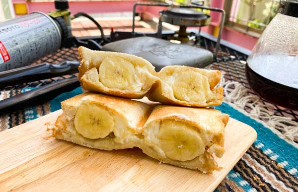 まるごとバナナのホットサンド