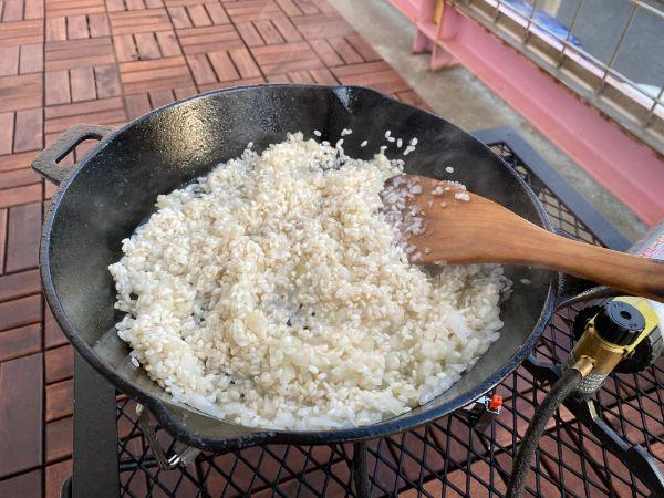 お米をいためる