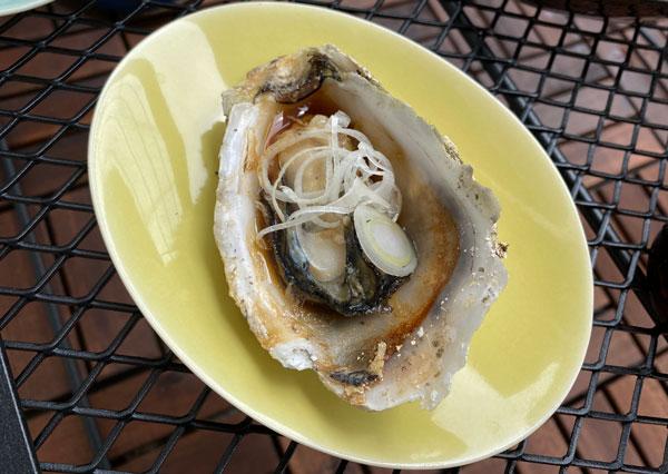 殻付き牡蠣、ねぎポン酢
